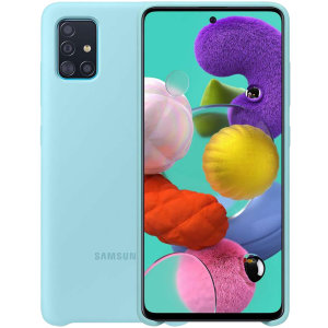 Protect your Samsung Galaxy A51 with this official silicone case in Blue. Simple yet stylish, this case is the perfect accessory for your A51. Incredibly lightweight and sleek this case ensures you're ready for any occasion.
