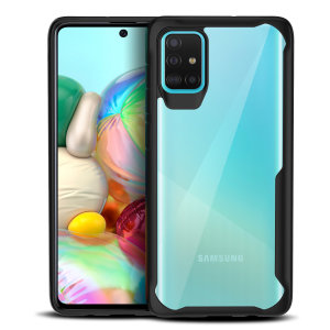 Perfect for Samsung Galaxy A71 owners looking to provide exquisite protection that won't compromise Samsung's sleek design, the NovaShield from Olixar combines the perfect level of protection in a sleek black and clear bumper package.