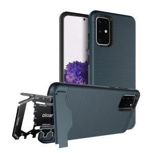 Prepare your Samsung Galaxy S20 Plus for the great outdoors with the rugged navy X-Ranger case. With a handy kickstand and a secure compartment for the included multi-tool - or the card of your choice - you'll be ready for anything.