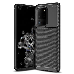 Olixar Carbon Fibre case is a perfect choice for those who need both the looks and protection! A flexible TPU material is paired with an eye-catching carbon print to make sure your Samsung Galaxy S20 Ultra is well-protected and looks good in any setting.