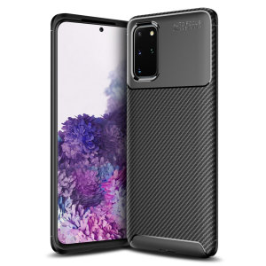 Olixar Carbon Fibre case is a perfect choice for those who need both the looks and protection! A flexible TPU material is paired with an eye-catching carbon print to make sure your Samsung Galaxy S20 Plus is well-protected and looks good in any setting.