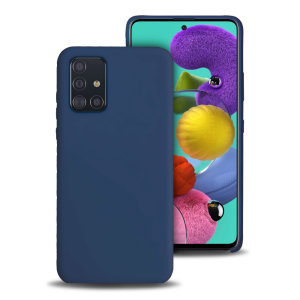 Olixar Samsung Galaxy A51 Soft Silicone Case - Midnight Blue
