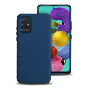 Custom moulded for the Samsung Galaxy A71, this midnight blue soft silicone case from Olixar provides excellent protection against damage as well as a slimline fit for added convenience.