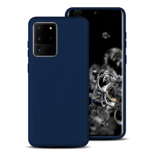 Custom moulded for the Samsung Galaxy S20 Ultra, this midnight blue soft silicone case from Olixar provides excellent protection against damage as well as a slimline fit for added convenience.