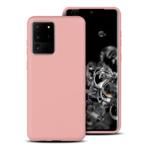 Custom moulded for the Samsung Galaxy S20 Ultra, this pastel pink soft silicone case from Olixar provides excellent protection against damage as well as a slimline fit for added convenience.