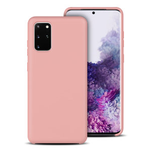 Custom moulded for the Samsung Galaxy S20 Plus, this pastel pink soft silicone case from Olixar provides excellent protection against damage as well as a slimline fit for added convenience.
