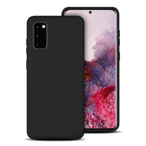 Custom moulded for the Samsung Galaxy S20, this black soft silicone case from Olixar provides excellent protection against damage as well as a slimline fit for added convenience.