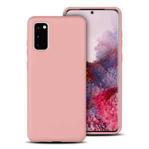 Olixar Silicone Samsung Galaxy S20 Hülle – Pastell rosa
