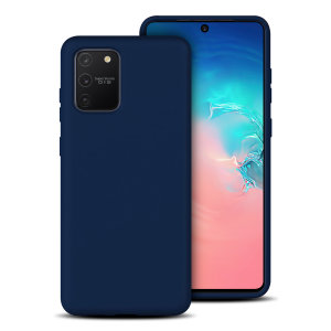 Custom moulded for the Samsung Galaxy S10 Lite, this midnight blue soft silicone case from Olixar provides excellent protection against damage as well as a slimline fit for added convenience.