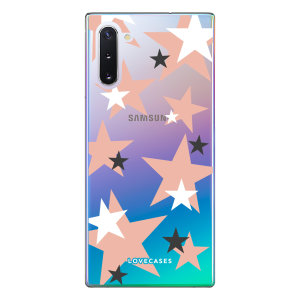 Give your Samsung Note 10 a cute new look with this Pink Star design phone case from LoveCases. Cute but protective, the ultra-thin case provides slim fitting and durable protection against life's little accidents