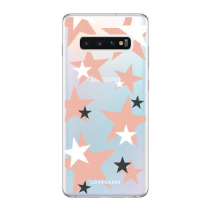 Give your Samsung S10 Plus a cute new look with this Pink Star design phone case from LoveCases. Cute but protective, the ultra-thin case provides slim fitting and durable protection against life's little accidents