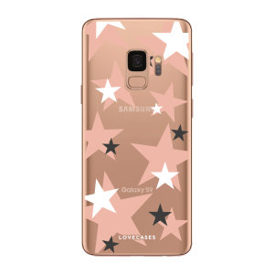 Give your Samsung S9 a cute new look with this Pink Star design phone case from LoveCases. Cute but protective, the ultra-thin case provides slim fitting and durable protection against life's little accidents