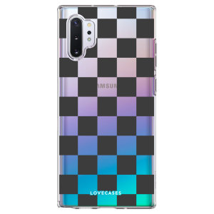 LoveCases Samsung Galaxy Note 10 Plus Black Checkered Case - Clear