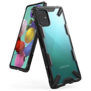 Keep your Samsung Galaxy A51 protected from bumps and drops with the Rearth Ringke Fusion X tough case in Black. Featuring a 2-part, Polycarbonate design, this case lives up to military drop-test standards so you can rest assured that your device is safe.