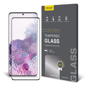 Keep your Samsung Galaxy S20 Plus screen in pristine condition with this Olixar Tempered Glass curved screen protector, designed for full coverage of your phone's screen. This design leaves enough space for a case too.