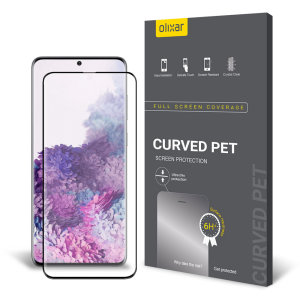 Keep your Samsung Galaxy S20 Plus screen in pristine condition with this Olixar PET scratch-resistant screen protector.