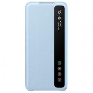 This Official Samsung Clear View Cover in Sky Blue is the perfect way to keep your Galaxy S20 smartphone protected whilst keeping yourself updated with your notifications thanks to the clear view front cover.