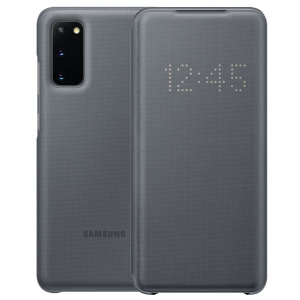 Protect your Samsung Galaxy S20 screen from harm and keep up to date with your notifications through the intuitive LED display with the official grey LED cover from Official Samsung.
