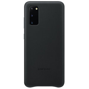 This Official Samsung Leather Cover in black is the perfect way to keep your Samsung Galaxy S20 smartphone protected in style, made out of genuine leather.