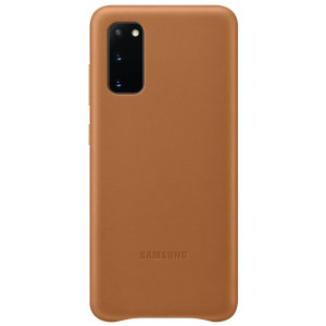This Official Samsung Leather Cover in brown is the perfect way to keep your Samsung Galaxy S20 smartphone protected in style, made out of genuine leather.