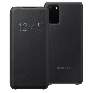Protégez votre Samsung Galaxy S20 Plus des dommages accidentels et consultez les notifications entrantes en un coup d'œil grâce à la protection LED View Cover officielle en coloris noir.