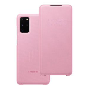 Protect your New Samsung Galaxy S20 Plus screen from harm and keep up to date with your notifications through the intuitive LED display with the official pink LED cover from Samsung.