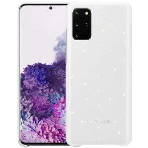 Protect your New Samsung Galaxy S20 Plus from harm with the intuitive LED offical case from Samsung in white. This LED smart case allows you to receive notifications, set mood lights, have icon features & connect with friends all through the LED lights.