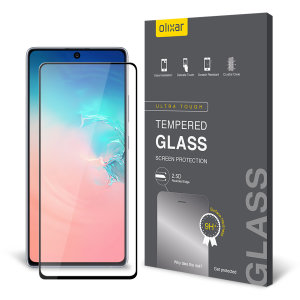 This ultra-thin tempered glass screen protector for the Samsung Galaxy S10 Lite from Olixar offers toughness, high visibility and sensitivity all in one package.
