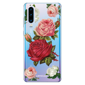 LoveCases Huawei P30 Roses Clear Phone Case