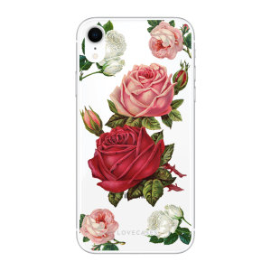 LoveCases iPhone XR Roses Clear Phone Case