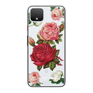 LoveCases Google Pixel 4 Roses Clear Phone Case