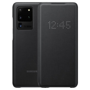 Protect your Samsung Galaxy S20 Ultra screen from harm and keep up to date with your notifications through the intuitive LED display with the official black LED cover from Samsung.
