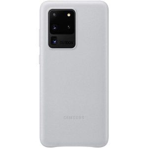 This Official Samsung Leather Cover in light grey is the perfect way to keep your Galaxy S20 Ultra smartphone protected in style, made out of genuine leather.