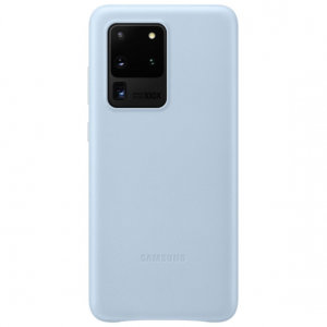 Official Samsung Galaxy S20 Ultra Leather Cover Case - Sky Blue