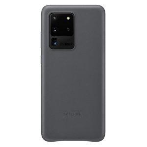 Diese offiziellen Samsung-Leder-Abdeckung in grau ist der perfekte Weg, um Ihre Galaxy S20 Ultra-Smartphone in der Art geschützt zu halten, ist aus echtem Leder aus.