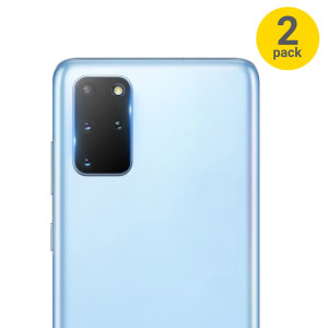 This 2 pack of ultra-thin tempered glass rear camera protectors for the Samsung Galaxy S20 Plus from Olixar offers toughness and superb clarity for your photography all in one package.