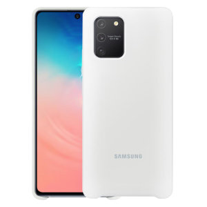 Protect your Samsung Galaxy S10 Lite with this official silicone case in white. Simple yet stylish, this case is the perfect accessory for your S10 Lite. Incredibly lightweight and sleek this case ensures you're ready for any occasion.