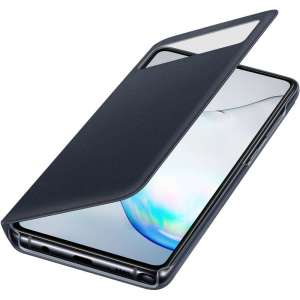 This Official Samsung S-View Flip Cover in Black is the perfect way to keep your Galaxy Note 10 Lite smartphone protected whilst keeping yourself updated with your notifications thanks to the clear view front cover.