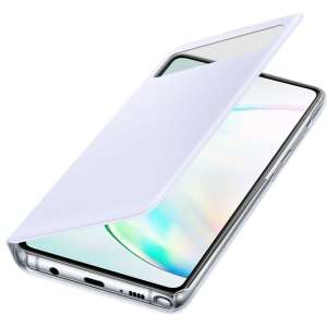 Official Samsung Galaxy Note 10 Lite S-View Flip Cover Case - White