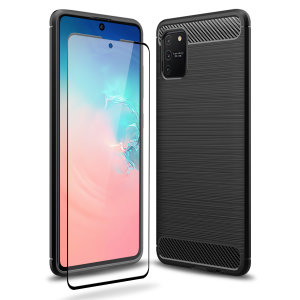 Flexible rugged casing with a premium matte finish non-slip carbon fibre and brushed metal design, the Olixar Sentinel case in black keeps your Samsung S10 Lite protected from 360 degrees with the added bonus of a tempered glass screen protector.