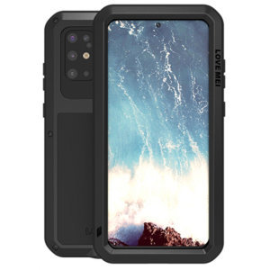 Protect your Samsung Galaxy S20 Plus with one of the toughest and most protective cases on the market, ideal for helping to prevent possible damage from water and dust - this is the black Love Mei Powerful Protective Case.