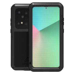 Schützen Sie Ihr Samsung Galaxy S20 Ultra mit einem der robustesten und schützendsten Koffer auf dem Markt, ideal, um mögliche Schäden durch Wasser und Staub zu vermeiden - das ist das schwarze Love Mei Powerful Hüllen.
