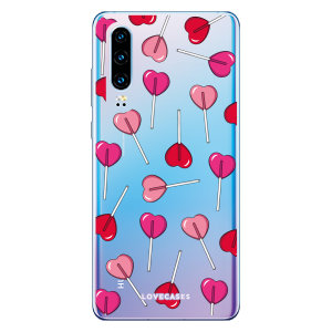 LoveCases Huawei P30 Lollypop Phone Case - Clear