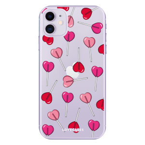 Give your iPhone 11  a cute new look with this Valentines Lollipop design phone case from LoveCases. Cute but protective, the ultra-thin case provides slim fitting and durable protection against life's little accidents.