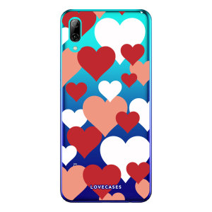 Give your Huawei P Smart 2019 a cute new look with this Valentines Love Heart design phone case from LoveCases. Cute but protective, the ultra-thin case provides slim fitting and durable protection against life's little accidents