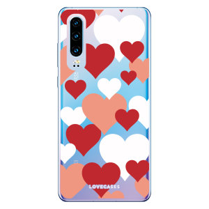 Give your Huawei P30 a cute new look with this Valentines Love Heart design phone case from LoveCases. Cute but protective, the ultra-thin case provides slim fitting and durable protection against life's little accidents