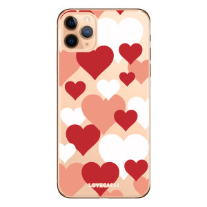 Give your iPhone 11 Pro  a cute new look with this Lovehearts design phone case from LoveCases. Cute but protective, the ultra-thin case provides slim fitting and durable protection against life's little accidents.