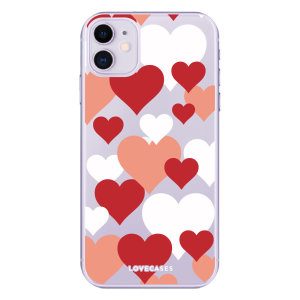 Give your iPhone 11  a cute new look with this Valentines Loveheart design phone case from LoveCases. Cute but protective, the ultra-thin case provides slim fitting and durable protection against life's little accidents.