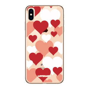 Give your iPhone XS a cute new look with this Bold Hearts design phone case from LoveCases. Cute but protective, the ultra-thin case provides slim fitting and durable protection against life's little accidents