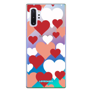 Give your Samsung Note 10 Plus a cute new look with this Valentines Love Heart design phone case from LoveCases. Cute but protective, the ultra-thin case provides slim fitting and durable protection against life's little accidents